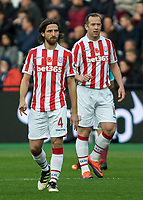 Football - 2016 / 2017 Premier League - West Ham United vs. Stoke City<br /> <br /> Joe Allen and Charlie Adam of Stoke City at The London Stadium.<br /> <br /> COLORSPORT/DANIEL BEARHAM