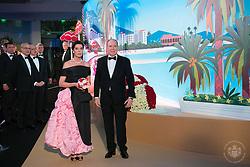 Princess Caroline of Hanover and Prince Albert II of Monaco attend the Rose Ball 2019 at Sporting in Monaco, Monaco. Photo by Palais Princier/Gaetan Luci/SBM/ABACAPRESS.COM