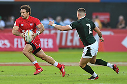 Patrick Kay of Canada  in action<br /> <br /> Photographer Craig Thomas/Replay Images<br /> <br /> World Rugby HSBC World Sevens Series - Day 2 - Friday 6rd December 2019 - Sevens Stadium - Dubai<br /> <br /> World Copyright © Replay Images . All rights reserved. info@replayimages.co.uk - http://replayimages.co.uk