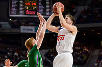 Real Madrid's Luka Doncic and Unicaja Malaga's Alberto Diaz during semi finals of playoff Liga Endesa match between Real Madrid and Unicaja Malaga at Wizink Center in Madrid, May 31, 2017. Spain.<br /> (ALTERPHOTOS/BorjaB.Hojas)