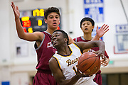Mission Bears guard Ben Knight (15) drives to the basket during the Fukushima Invitational at Independence High School in San Jose, Calif., on December 7, 2016. (Stan Olszewski/Special to S.F. Examiner)