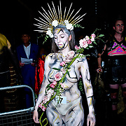 "Body artist Yasmin Raggett showcases is stunning body painting at The Third Annual Integrity Awards by Dragon Lady Productions and The Peace Project 21st ""The Alternative Fashion Integrity Awards 2019 & Film Networking Soirée"" on 21 September 2019, Fire Club Vauxhall, London, UK."