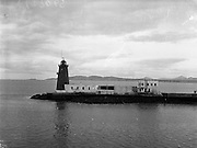 01/02/1957<br /> 02/01/1957<br /> 01 February 1957<br /> View of Poolbeg Lighthouse, Dublin Bay.