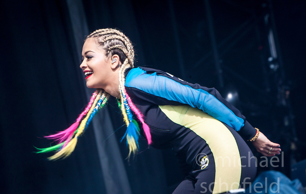 Rita Ora plays the main stage.<br /> Sunday at Glasgow Green, BBC Radio 1's Big Weekend Glasgow 2014.