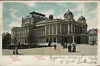 Zagreb : Kazalište. <br /> <br /> ImpresumWien : G. Rüger & Co., [1904].<br /> Materijalni opis1 razglednica : tisak ; 9 x 14 cm.<br /> Mjesto izdavanjaBeč<br /> Vrstavizualna građa • razglednice<br /> ZbirkaZbirka razglednica • Grafička zbirka NSK<br /> Formatimage/jpeg<br /> PredmetZagreb –– Trg Republike Hrvatske<br /> SignaturaRZG-TMT-34<br /> Obuhvat(vremenski)20. stoljeće<br /> NapomenaRazglednica je putovala 1904.<br /> PravaJavno dobro<br /> Identifikatori000926053<br /> NBN.HRNBN: urn:nbn:hr:238:488362 <br /> <br /> Izvor: Digitalne zbirke Nacionalne i sveučilišne knjižnice u Zagrebu