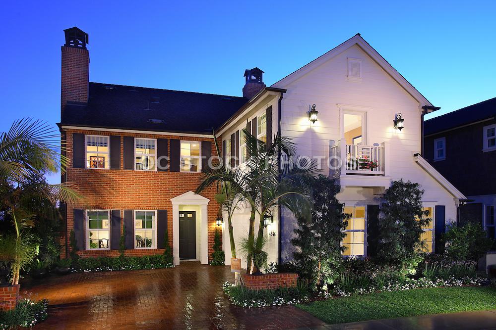 Orange County Home At Dusk