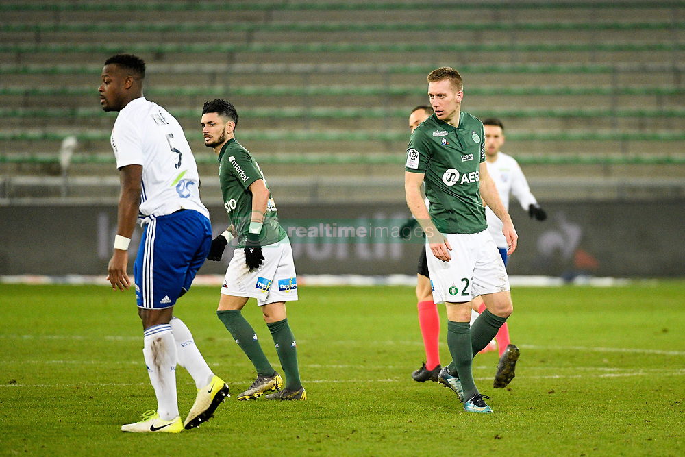 February 13, 2019 - Saint Etienne, France - 27 ROBERT BERIC (ASSE) - 07 REMY CABELLA  (Credit Image: © Panoramic via ZUMA Press)