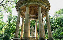 Statue of Hygeia (,Hygieia) the Greek goddess of health at St Bernards Well on the Water of Leith,in Edinburgh, Scotland, UK