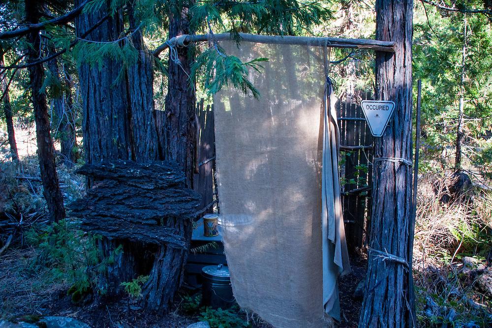 Bathroom, Shasta View Treehouse, Mt. Shasta, California, US