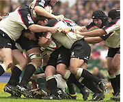 Leicester, Leicestershire, 3rd May 2003, Welford Road Stadium, [Mandatory Credit: Peter Spurrier/Intersport Images],Zurich Premiership Rugby - Leicester Tigers v London Irish<br /> London Irsh forward controlling the maul