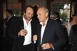 Left to right, the HON.DAVID MACMILLAN and NICHOLAS COLERIDGE at the Tatler magazine Summer Party, Home House, Portman Square, London W1 on 27th June 2007.<br /><br />NON EXCLUSIVE - WORLD RIGHTS