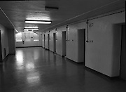 Women's Prison At Mountjoy.  (R98)..1989..16.03.1989..03.16.1989..16th March 1989..Mountjoy Prison for women originally opened in 1858 for female inmates of 18years and upwards. In 1956 due to the low number of women incarcerated the majority of the prison was handed over as a young male offender prison (St Patrick's Institution)..The women's section was transferred to the basement area of the existing building...A view of the basement section of Mountjoy Prison which houses the Women's wing.