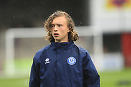 15 Year old Luke Matheson a substitute for Rochdale during the EFL Sky Bet League 1 match between Scunthorpe United and Rochdale at Glanford Park, Scunthorpe, England on 8 September 2018.