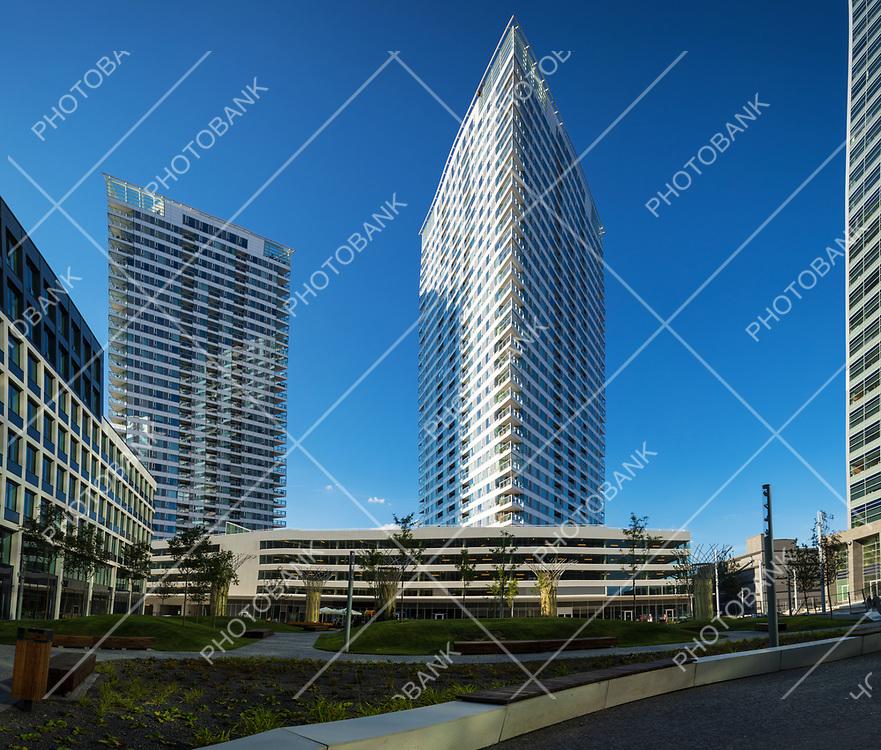 Modern high building in Bratislava