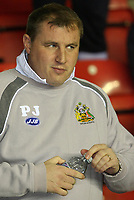 Photo: Paul Thomas.<br /> Wigan Athletic v Arsenal. The Barclays Premiership. 13/12/2006.<br /> <br /> Paul Jewel, manager of Wigan.