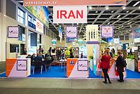 DEU, Deutschland, Germany, Berlin, 07.03.2019: Internationale Tourismus-Börse (ITB) auf dem Berliner Messegelände. Der Stand von Iran.