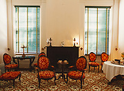 Rococo Revival Furniture from the Davis Family who lived in Melrose after the McMurran Family, Parlor Room at Melrose, Natchez National Historical Park, Natchez, Mississippi.
