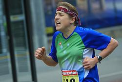 Prva Slovenka Mateja Sustarsic (skupno 7. mesto) pred ciljem na 13. Ljubljanskem maratonu po ulicah Ljubljane, 26. oktobra 2008, Ljubljana, Slovenija. (Photo by Vid Ponikvar / Sportal Images)./ Sportida)
