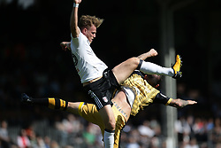 Fulham's Kevin McDonald (left) and Sheffield Wednesday's Steven Fletcher battle for the ball