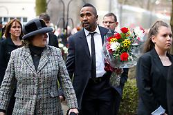 Footballer Ricardo Fuller during the funeral service for Gordon Banks at Stoke Minster.