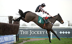 Pulling Power ridden by Jockey Matt Griffiths during the Fourpenny Plate Mares' Novices' Handicap Chase