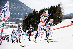 January 6, 2018 - Val Di Fiemme, ITALY - 180106 Evelina Settlin of Sweden competes in women's 10km mass start classic technique during Tour de Ski on January 6, 2018 in Val di Fiemme..Photo: Jon Olav Nesvold / BILDBYRN / kod JE / 160122 (Credit Image: © Jon Olav Nesvold/Bildbyran via ZUMA Wire)