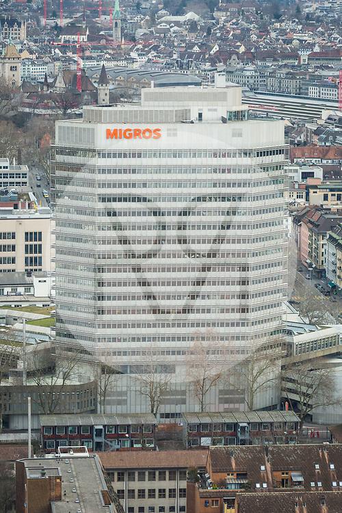 SCHWEIZ - ZÜRICH - Migros-Hochhaus am Limmatplatz - 26. Januar 2018 © Raphael Hünerfauth - http://huenerfauth.ch