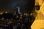 Virgen del Panecillo, near La Ronda street. Quito, Pichincha, Ecuador. February 17, 2013.