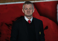 Football - 2018 / 2019 Premier League - Crystal Palace vs. Manchester United<br /> <br /> Ole Gunnar Solskjaer, manager of Manchester United, gives a defiant look despite his worrying injury list as the teams arrive at Selhurst Park.<br /> <br /> COLORSPORT/DANIEL BEARHAM