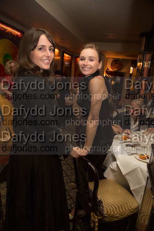 TANIA FARES; JO MANOUKIAN, Dinner in aid of the China Tiger Revival hosted by Sir David Tang and Stephen Fry  at China Tang, Park Lane, London. 1 October 2013. ,