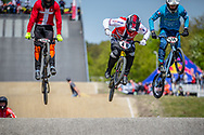 during practice of Round 3 at the 2018 UCI BMX Superscross World Cup in Papendal, The Netherlands