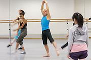 Universities in Vienna, Austria..Konservatorium Wien Privatuniversität..Ballett class. The teacher (blue t-shirt).