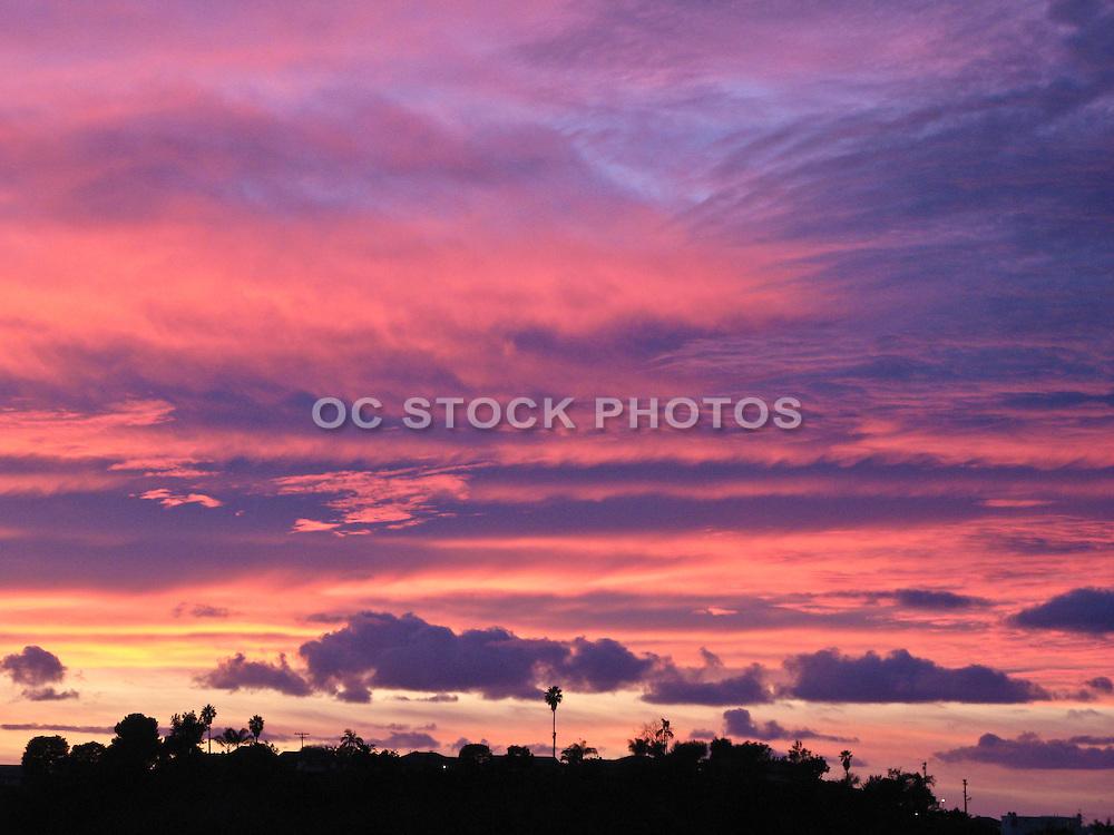Violet Sky Sunset In Orange County