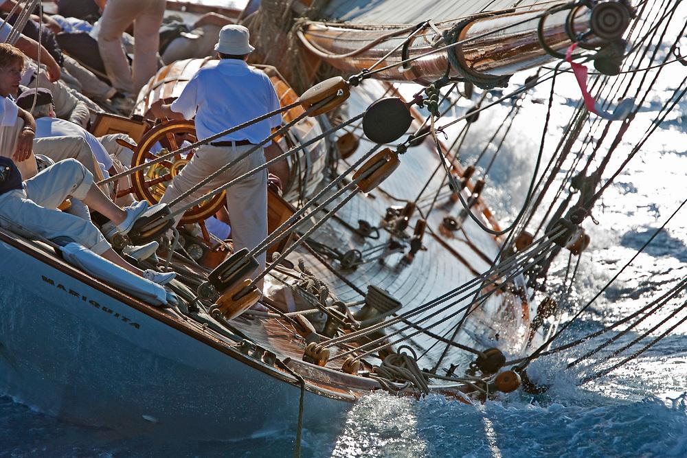 MARIQUITA, Fife design. Built 1911. 125 ft (19 Metre)<br /> Voiles de Saint-Tropez.