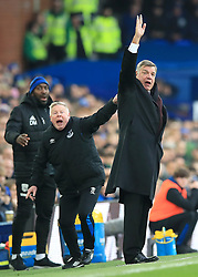 Everton manager Sam Allardyce (right) with assistant Sammy Lee on the touchline during the Premier League match at Goodison Park, Liverpool