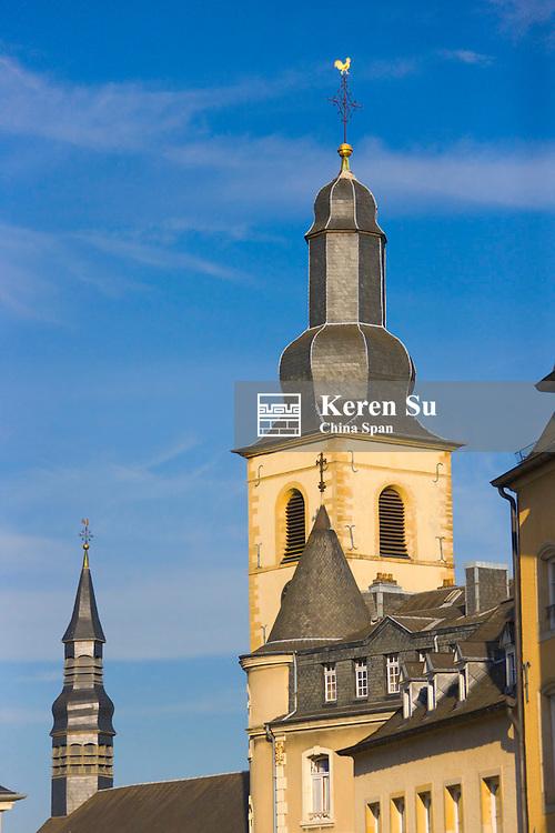 St. Michael's Church and Chemin de la Corniche, Luxembourg City, Luxembourg