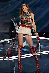 Alexinia Graham on the catwalk for the Victoria's Secret Fashion Show at the Mercedes-Benz Arena in Shanghai, China