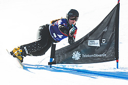 Sofia Nadyrshina (RUS) during parallel giant slalom FIS Snowboard Alpine world championships 2021 on 1st of March 2021 on Rogla, Slovenia, Slovenia. Photo by Grega Valancic / Sportida