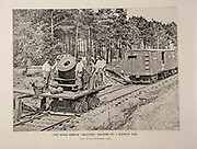 """THE NOTED MORTAR ' DICTATOR ' MOUNTED ON A RAILWAY CAR. Used on the Petersburg Lines. from The American Civil War book and Grant album : """"art immortelles"""" : a portfolio of half-tone reproductions from rare and costly photographs designed to perpetuate the memory of General Ulysses S. Grant, depicting scenes and incidents in connection with the Civil War Published  in Boston and New York by W. H. Allen in 1894"""