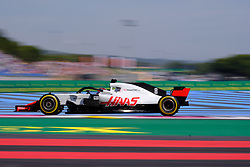 June 22, 2018 - Le Castellet, Var, France - Haas 8 Driver ROMAIN GROSJEAN (FRA) in action during the Formula one French Grand Prix at the Paul Ricard circuit at Le Castellet - France (Credit Image: © Pierre Stevenin via ZUMA Wire)
