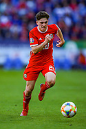 Wales midfielder Daniel James on the ball during the UEFA European 2020 Qualifier match between Wales and Slovakia at the Cardiff City Stadium, Cardiff, Wales on 24 March 2019.