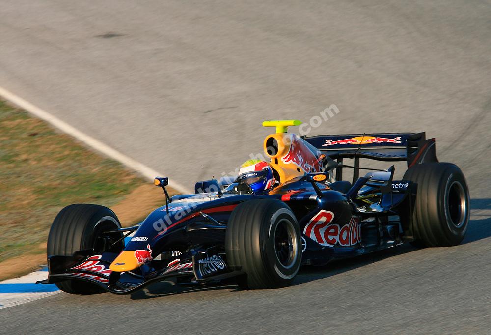 Mark Webber (Red Bull-Renault) during testing in Jerez - February 6-8 2007. Photo: Grand Prix Photo