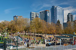 United States, Washington, Bellevue, Bellevue Downtown Park, Inspiration Playground. Editorial Use Only.