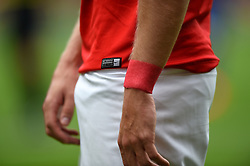 Detail of a Charlton Athletic player wearing their Nike branded shirt