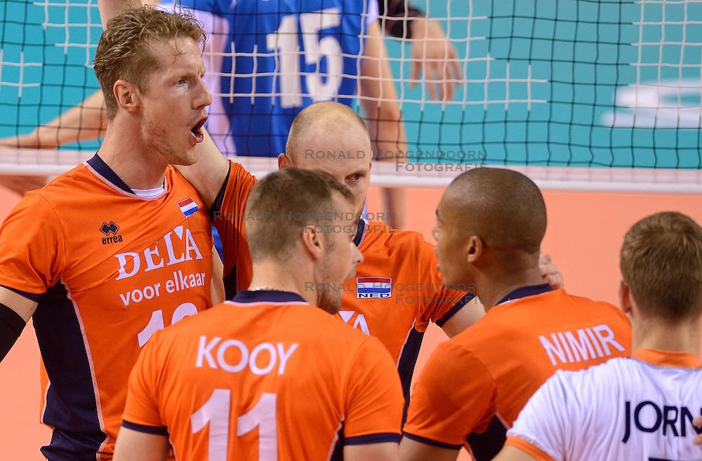 20150614 NED: World League Nederland - Finland, Almere<br /> Kay van Dijk #12
