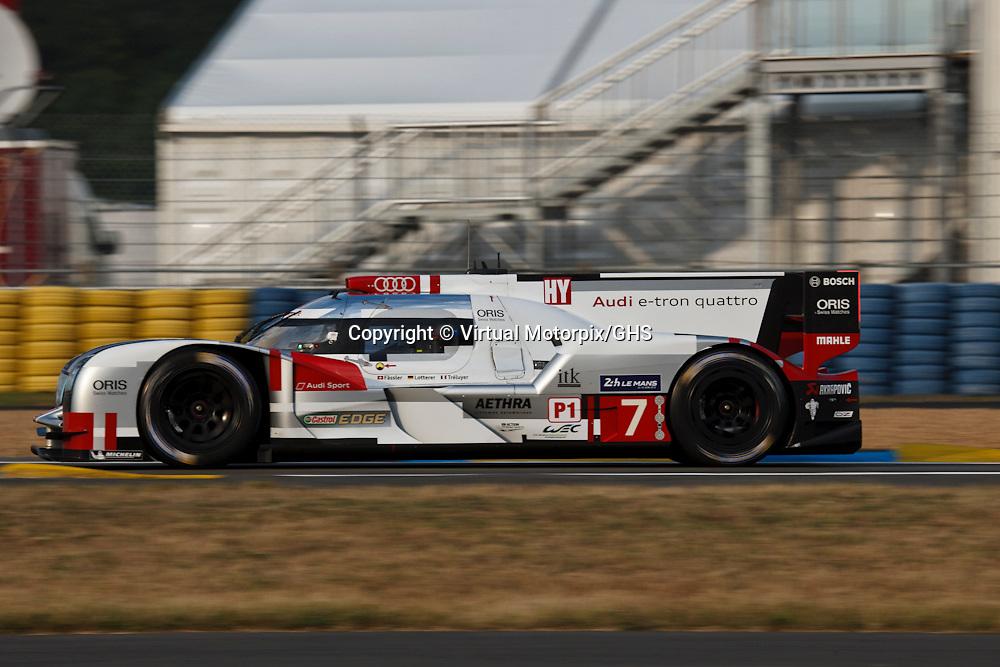 #7 Audi R18 e-tron quattro, Audi Sport Team Joest, Marcel Fassler, Andre Lotterer, Benoit Treluyer, Le Mans 24H, 2015