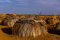 Dassanach tribe huts, Omo Valley, Ethiopia.