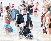 The Coney Island Polar Bear Club's annual New Year's Day swim at Coney Island in Brooklyn, NY on January 1, 2017.