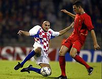 Fotball<br /> EM-kvalifisering<br /> 10.09.2003<br /> Belgia v Kroatia<br /> NORWAY ONLY<br /> Foto: Phot News/Digitalsport<br /> <br /> Jelle Van Damme - Belgia<br /> Ivicq Mornqr - Kroatia