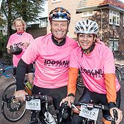 NLD/Amersfoort/20180929 - Bn-er fietsen de Zuiderzee Klassieker 2018, Leontien van Moorsel en partner Michael Zijlaard